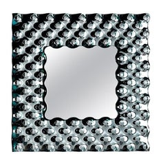 Fiam Pop PP/86 Square Wall Mirror in Fused Glass, by Marcel Wanders