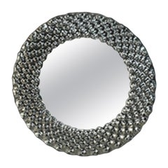 Fiam Pop PP/96 Round Wall Mirror in Fused Glass, by Marcel Wanders