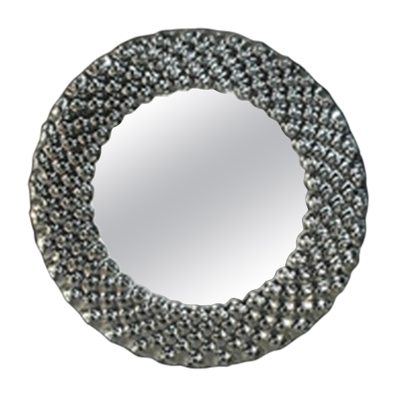 Fiam Pop Round Wall Mirror in Fused Glass, by Marcel Wanders