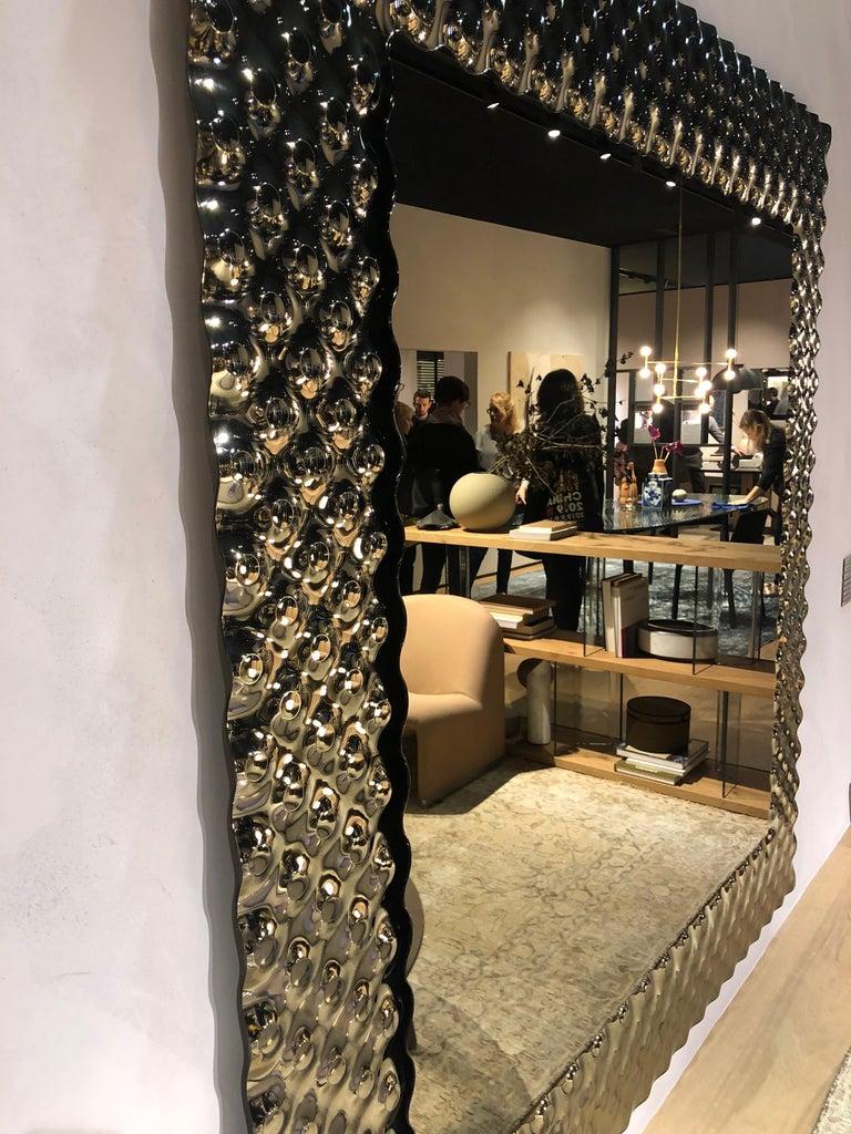 Italian Fiam Pop Square Mirror by Marcel Wanders For Sale