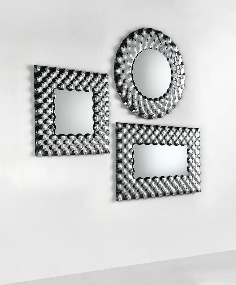 Contemporary Fiam Pop Square Mirror by Marcel Wanders For Sale