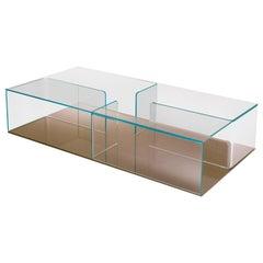 Fiam Quadra QU/120BR Coffee Table with Bronze Glass Base, by Matteo Nunziati