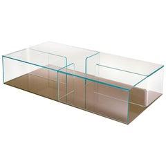 Fiam Quadra QU/160BR Coffee Table with Bronze Glass Base, by Matteo Nunziati