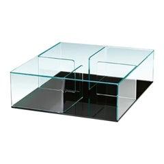 Fiam Quadra QU/90N Coffee Table with Black Glass Base, by Matteo Nunziati