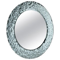 Fiam Venus 208 Round Mirror in Glass, by Vittorio Livi