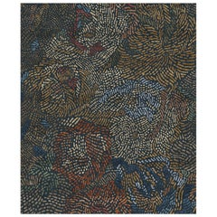 Fiametta Giardino in Autunno Hand Knotted Wool and Silk Rug 10 x 13ft