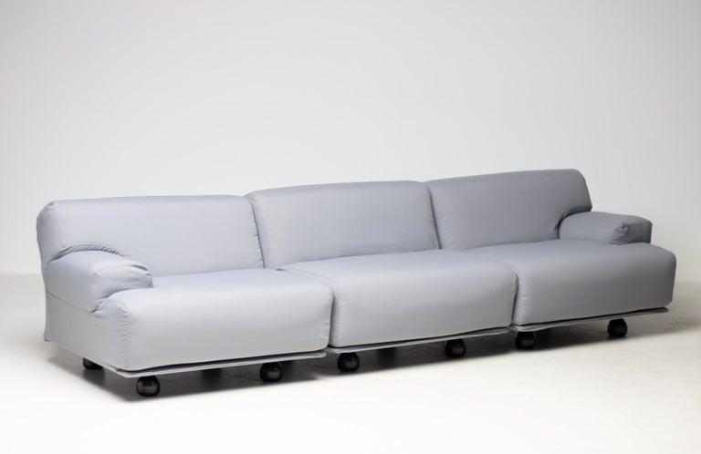 Wool Fiandra Modular Sofa by Vico Magistretti for Cassina For Sale