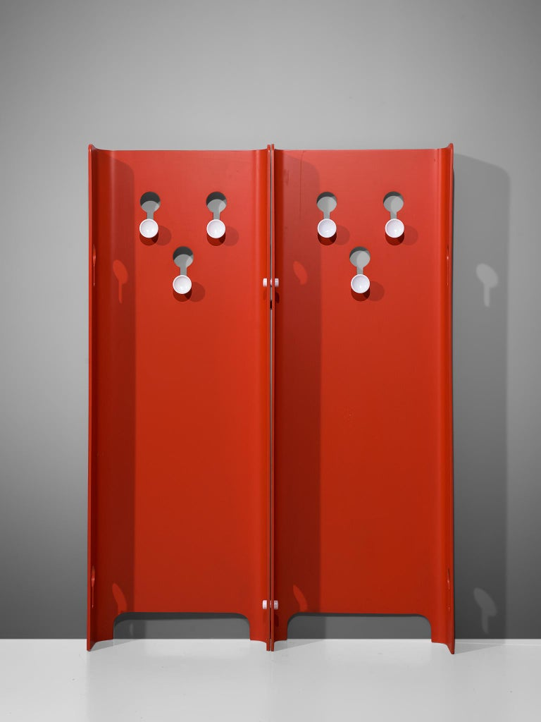Mid-20th Century Fiarm Red Hall Stand by Carlo de Carli, 1960s For Sale