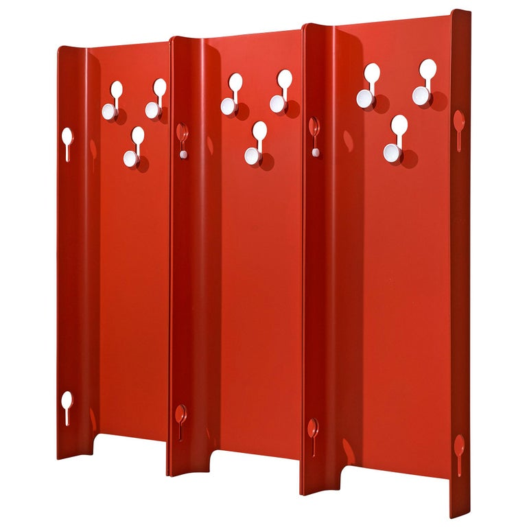 Fiarm Red Hall Stand by Carlo de Carli, 1960s For Sale
