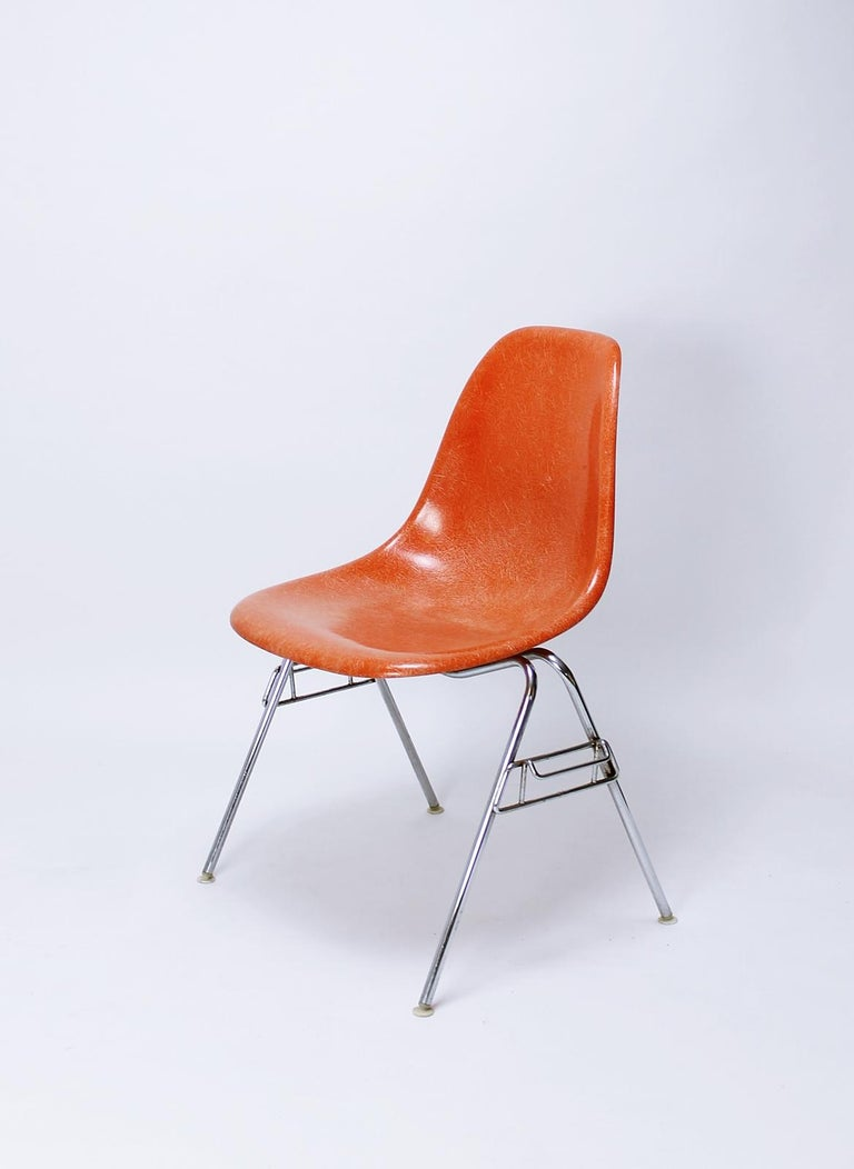 Fiberglass Dss Stacking Chair By Ray And Charles Eames For Herman Miller Vitra For Sale At 1stdibs