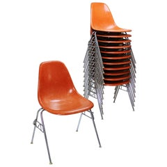 Fiberglass DSS Stacking Chair by Ray & Charles Eames for Herman Miller/Vitra
