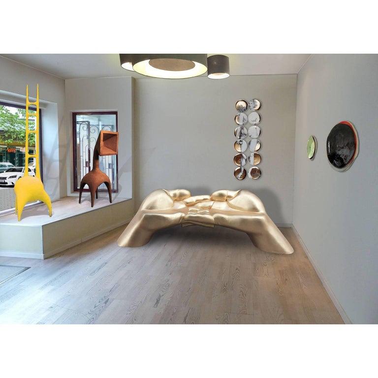 Fiberglass Sculptural Sofa, Bench, Loveseat '24U' Stone Finish Outdoor Indoor For Sale 6