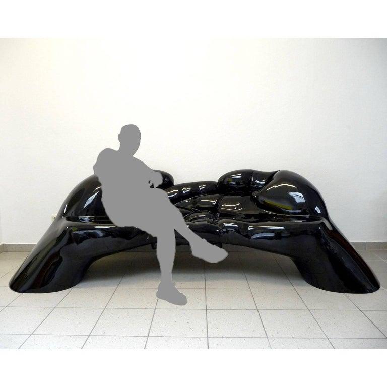 Fiberglass Sculptural Sofa, Bench, Loveseat '24U' Stone Finish Outdoor Indoor For Sale 1