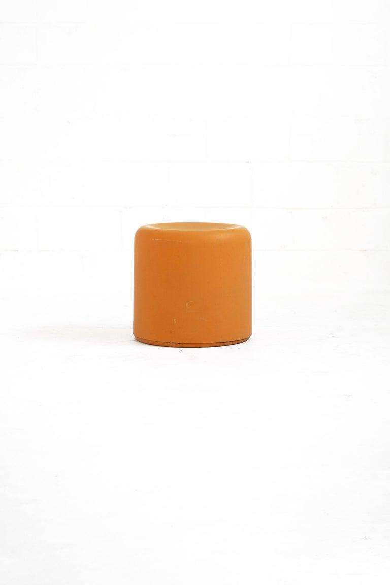 Fiberglass Stool in Orange-Yellow For Sale 6