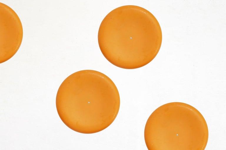 Fiberglass Stool in Orange-Yellow For Sale 8