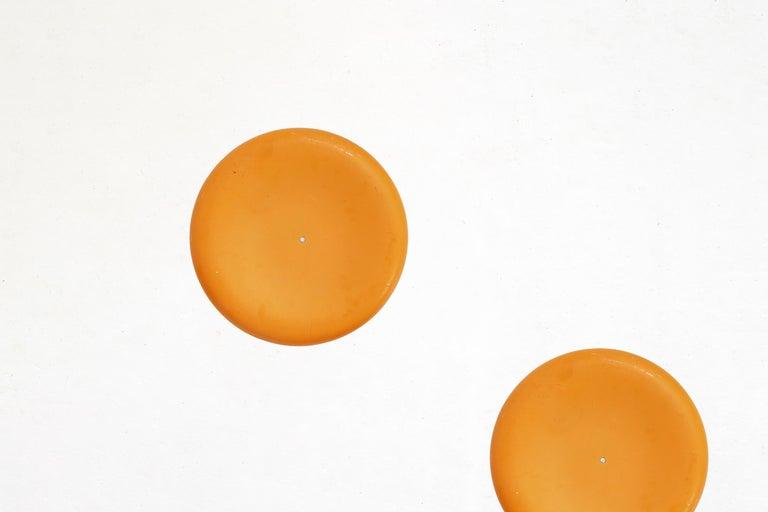Fiberglass Stool in Orange-Yellow For Sale 12
