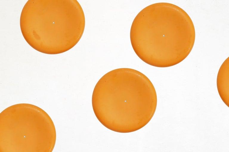 Space Age Fiberglass Stool in Orange-Yellow For Sale