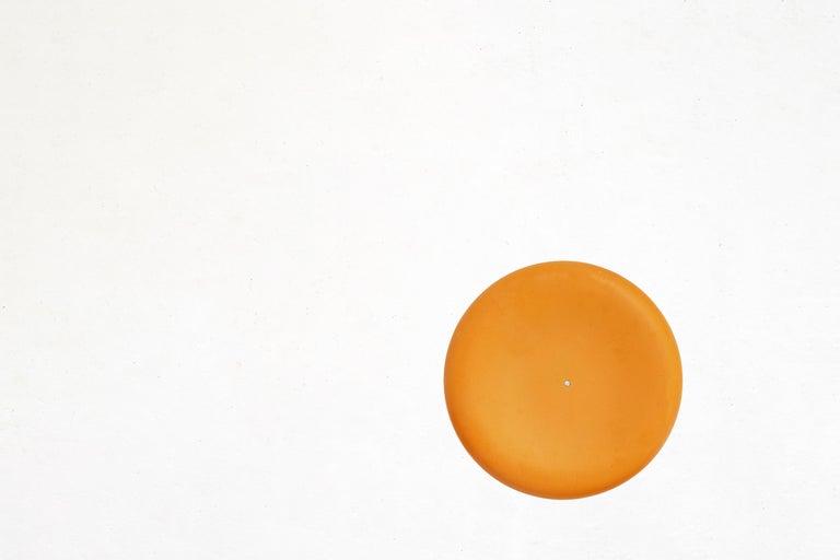 Fiberglass Stool in Orange-Yellow For Sale 2