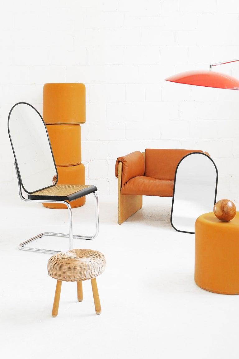 Fiberglass Stool in Orange-Yellow For Sale 3