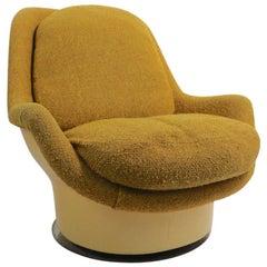 Fiberglass Upholstered Swivel Tilt Lounge Chair by Buaghman for Thayer Coggin