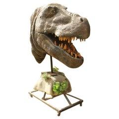 Fibreglass Dinosaur Head from Early 1990s