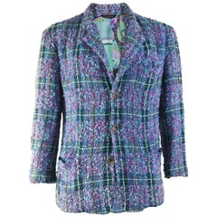 Ficce Uomo Vintage Mens Wool Boucle Blazer Jacket