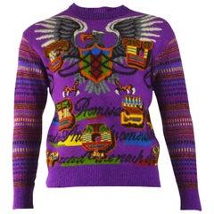 Ficce Yoshiyuki Konishi Vintage Purple Mens Unisex Sweater