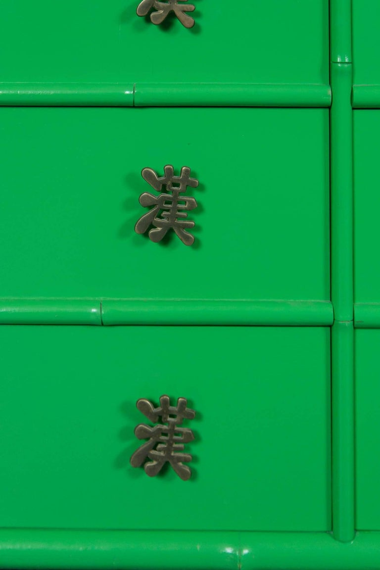 Ficks Reed Chinoiserie Credenza or Long Chest of Drawers For Sale 1