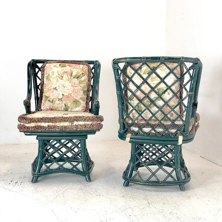 Dining Table Chairs For Sale: Ficks Reed Dining Table And Chairs For Sale At 1stdibs