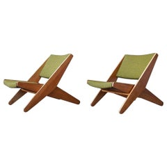 Ficks Reed Folding Lounge Chairs