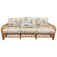 Mid Century Ficks Reed John Wisner Bamboo Rattan Sofa