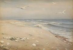 Seascape by Fidelia Bridges (1834-1923, American)