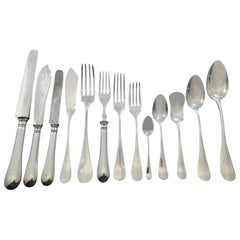 Fidelio by Christofle France Silver Plate Flatware Set Service 186 Pieces Dinner