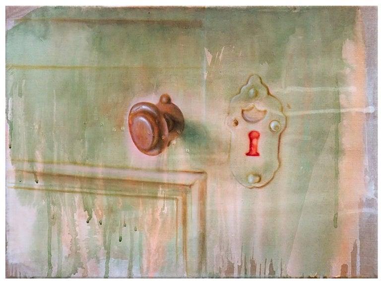 Fides Becker Still-Life Painting - Schlüsselloch