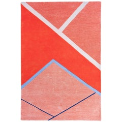 Field House Rug Hand Tufted in Wool and Viscose Blend