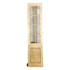 Fielded Single Panel Glazed Hardwood Door, 20th Century