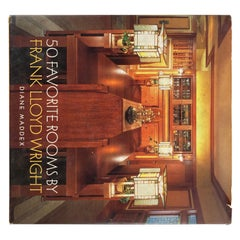 Fifty Favorite Rooms by Frank Lloyd Wright Hardcover Book
