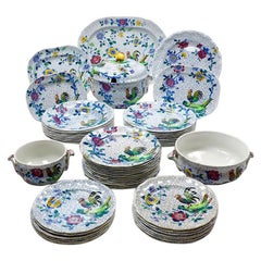 """Fifty-Piece Copeland Spode """"Chanticleer"""" Dining Service, Dated 1927-1928"""