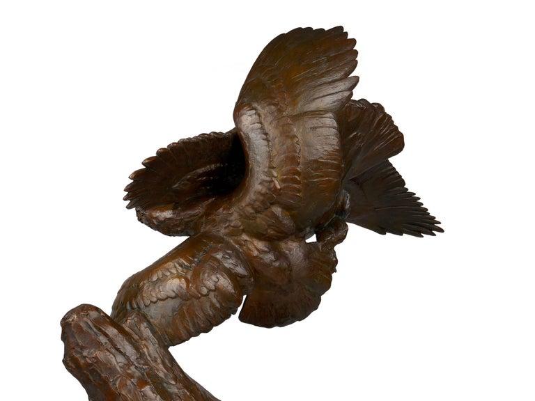 """Fighting Eagles"" Modernist Art Deco Bronze Sculpture by Maximilien Fiot & Susse For Sale 13"