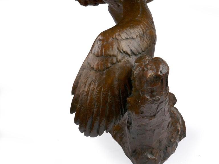 """Fighting Eagles"" Modernist Art Deco Bronze Sculpture by Maximilien Fiot & Susse For Sale 14"