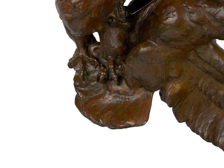 """Fighting Eagles"" Modernist Art Deco Bronze Sculpture by Maximilien Fiot & Susse For Sale 4"