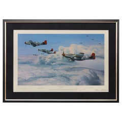 """""""Fighting Red Tails"""" by Robert Taylor, Signed by Five Fighter Pilots"""