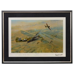 """""""Fighting Tigers"""" by Robert Taylor, Autographed by Six WWII Pilots, 1996"""
