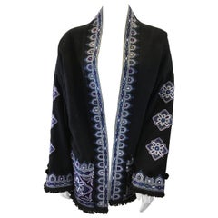 Figue Black Embroidered Wool Jacket