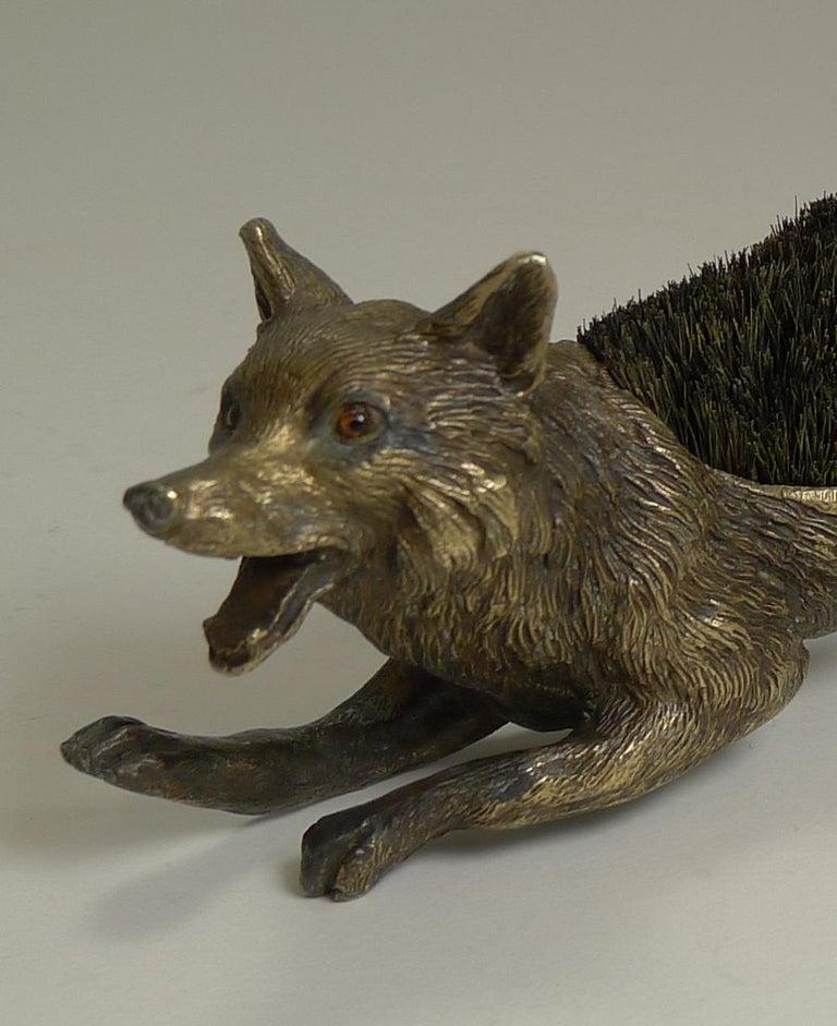 Figural Antique Austrian Bronze Pen/Nib Wipe - Fox, circa 1900 For Sale 2