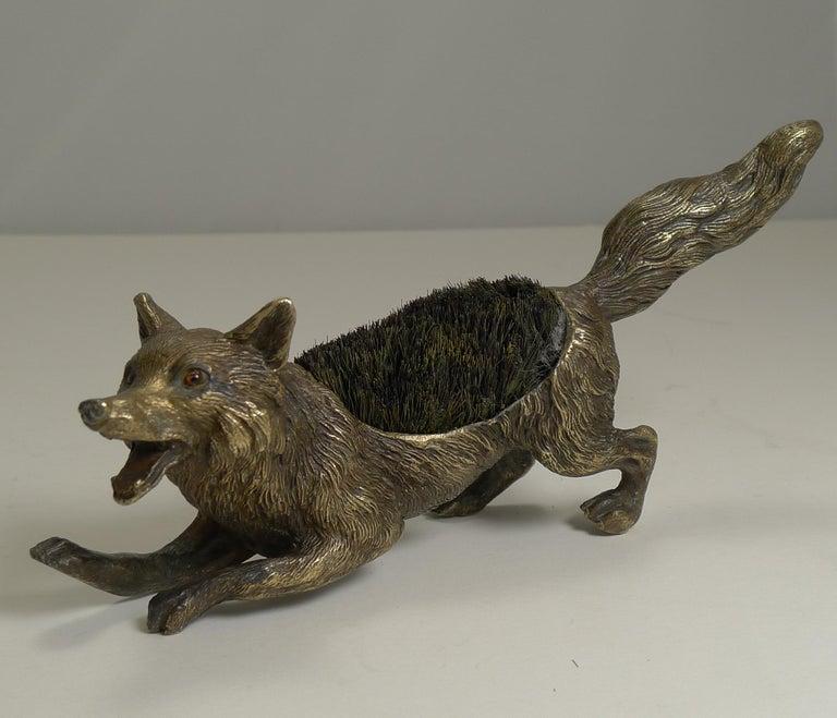 Figural Antique Austrian Bronze Pen/Nib Wipe - Fox, circa 1900 For Sale 3