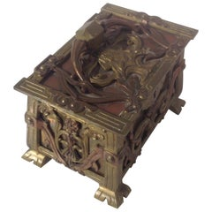 Figural Art Nouveau Sculptural Jewelry Box