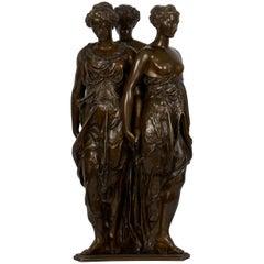 "Figural Bronze Sculpture of ""Three Graces"" after Germain Pilon"