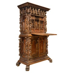Figural Desk with an Extension, 18th / 19th Century