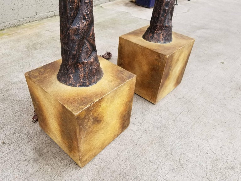 Brutalist Floor Lamps in the Manner of Alberto Giacometti For Sale 5